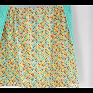 Large Baby/Toddler Blanket, Colorful Tile Pile